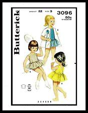 BUTTERICK #3096 Back Wrap Bathing Suit Tennis Dress Frock Fabric Pattern ~3~5~6~