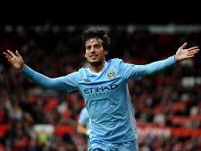 David Silva Manchester City Spain Football HUGE GIANT PRINT POSTER