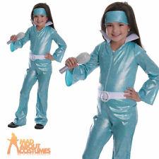 Child Pop Star Diva Costume Girls 1970s Dancing Queen Fancy Dress Outfit