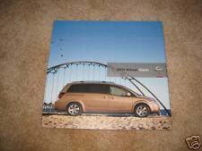 2006 Nissan Quest SL SE minivan van sales brochure dealer literature
