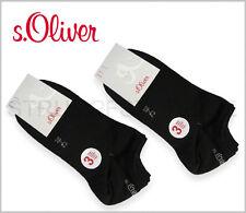 6 Paar s.Oliver Sneaker Socken Füßlinge 80% BW 35-38 39-42 43-46 47-49 schwarz
