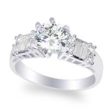JamesJenny Ladies 10K White Gold 1.1ct Round CZ Engagement Ring Size 4-10