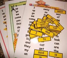 Recepción clase primeras palabras, A4 Carteles & Mini palabras Tarjetas Flash Pack. Gratis Envío