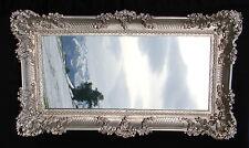 BAROCK Antik Spiegel Silber Wandspiegel Rechteckig WANDDEKO 96x57cm Mirror NEU