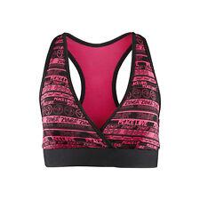 Zumba Peace n Love Mid-Level V-Bra - Pink Fuchsia Nwt