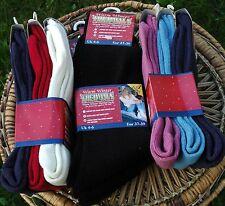 3 Pares Pack de cálido invierno Térmica calcetines size UK 4-6 elección de los colores del Reino Unido