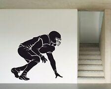 Vinyl Decal Wall Sticker Silhoutte Player American Footbal  (n698)