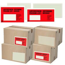 Lieferscheintaschen DIN LANG | DIN C6 Dokumententaschen Begleitpapiertaschen rot