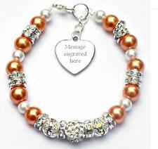 Personalised Engraved Leukemia Awareness Bracelet Gift Fundraising Charity
