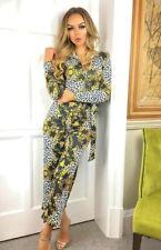 Exclusive Ladies Paisley Animal Print Front Zip Jumpsuit Girls
