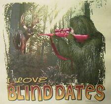 I LOVE BLIND DATES DEER HUNTING REDNECK SOUTHERN GIRL COUNTRY SHIRT #287