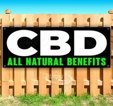 Cbd All Natural Benefits Advertising Vinyl Banner Flag Sign Many Sizes