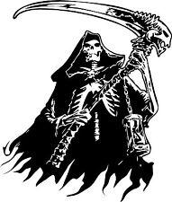 Grim Reaper Skeleton Skull Car Tattoo Boat Truck Window Vinyl Decal Sticker