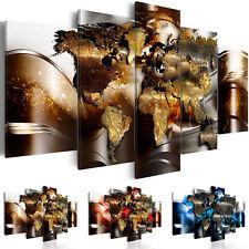 Wandbilder xxl Weltkarte Reise Abstrakt Leinwand Bilder Wohnzimmer k-A-0017-b-n