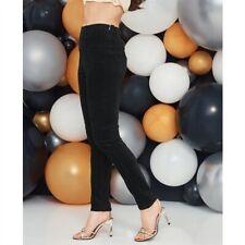 Avon Body Illusions Black Velvet Jeggings Elasticated Waist 14/16 18/20 22/24