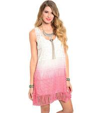 On Trend For Less Womens Unlined Sleeveless Crochet Dress