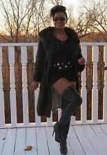 Elegant Classy  Designer Schiaparelli Muskrat Fur Coat Jacket Stroller M Sz 4-12