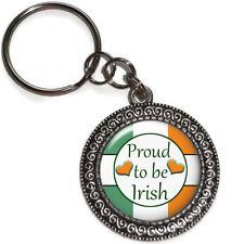 Key Ring PROUD TO BE IRISH Purse Bag Charm Zipper Pull Key Chain Handmade USA
