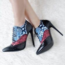 UK Women Plus Size Lace up Shoes Stiletto High Heel Court Shoes Pointy Toe Pumps