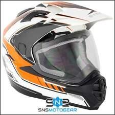 Stealth HD009 Dual Sport Adventure Motorcycle Motocross Helmet - Orange