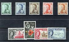 FIJI 1959-63 DEFINITIVES SG298/306 BLOCKS OF 4 MNH