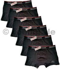 6x KAPPA Herren Boxershorts Mens Boxer-Shorts im Set verschiedene Größen Schwarz