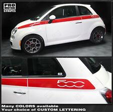 Fiat 500 Upper Body Side Stripes Decals 2012 2013 2014 2015 Pro Motor