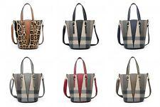 Women's Designer Inspired Leather Shoulder Tote Bucket Hobo Shopper Bag Handbag