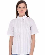 Coton Lane Crisp Cotton chemise blanche C47WT. Tailles UK 8 To 38
