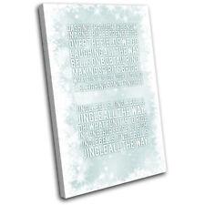 Christmas Decoration Wall Canvas ART Print XMAS Picture Gift Bokeh 22 Blue Chris