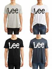 New Lee Men's Short Sleeve Logo Graphic Crew Neck T-Shirt Sizes M- 2XL