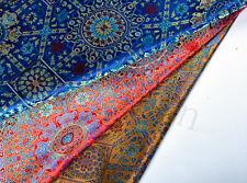 "MYSTERIOUS 28"" DAMASK SILK BROCADE SATIN FABRIC: SINO-PERSIAN VINTAGE LOTUS -"