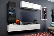 Wohnwand Hängend Tv Wand Fernseherschrank Concept 12 Hochglanz Hängwand  Matt LED