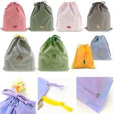 Waterproof Laundry Shoe Travel Pouch Portable Tote Drawstring Storage Bag CA-BG