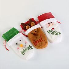 Santa Claus Snowman Wine Bottle Cover Bag Christmas Dinner Xmas Table Decor BL3