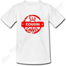 T-shirt Enfant Tampon Elu Cousin de l'année