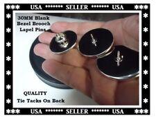30MM Blank Bezel Brooch Pins 30mm Glass Domes 30mm Epoxy Domes 30MM Lapel Pins