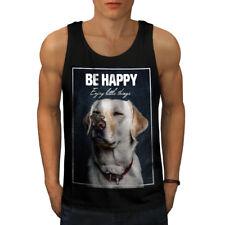 Être heureux Labrador Chien Hommes Tank Top New | wellcoda