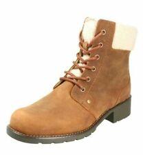 Ladies Clarks Fur Lining Ankle Boots Orinoco Dusk