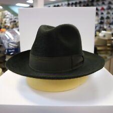 BORSALINO DARK GRN LONG HAIR FUR FELT FEDORA DRESS HAT *READ BELOW 4 SIZE