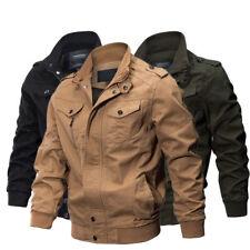 Men's Military cotton jackets casual collar bomber jacket coat parkas outwear