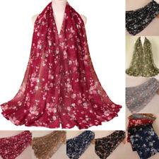 Women Scarf Flower Design Fashion Wrap Spring Summer Floral Scarf Hijab Scarves