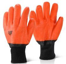 5/10 Pairs Alaska Thermal Hi-Vis PVC Coated Freezer/Cold Store/Winter Gloves