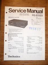Service Manual für Technics RS-BX404 Tape Deck,ORIGINAL