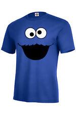 Cookie Monster T-shirt r.blue KIDS XS2-4-XL18-20 ADULT S-5XL LONG SLEEVE S-5XL