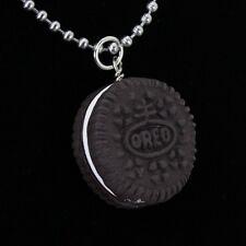 Oreo Cookie Necklace - Miniature Fake Food Jewelry - Handmade
