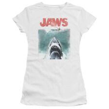 JAWS VINTAGE POSTER JUNIOR'S CAP SLEEVE FIT TEE SHIRT