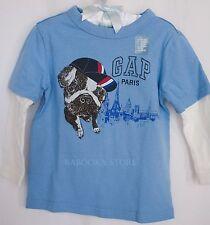Baby Gap Toddler Boy Paris City Tee Shirt Top 12mos- 4T NWT