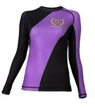 Ranked Rash Guard Long Sleeve Purple (Womens) BJJ MMA No-gi