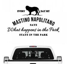 Mastino Napoletano Aufkleber Vintage Hundeaufkleber Folie Italian Bulldog Presa